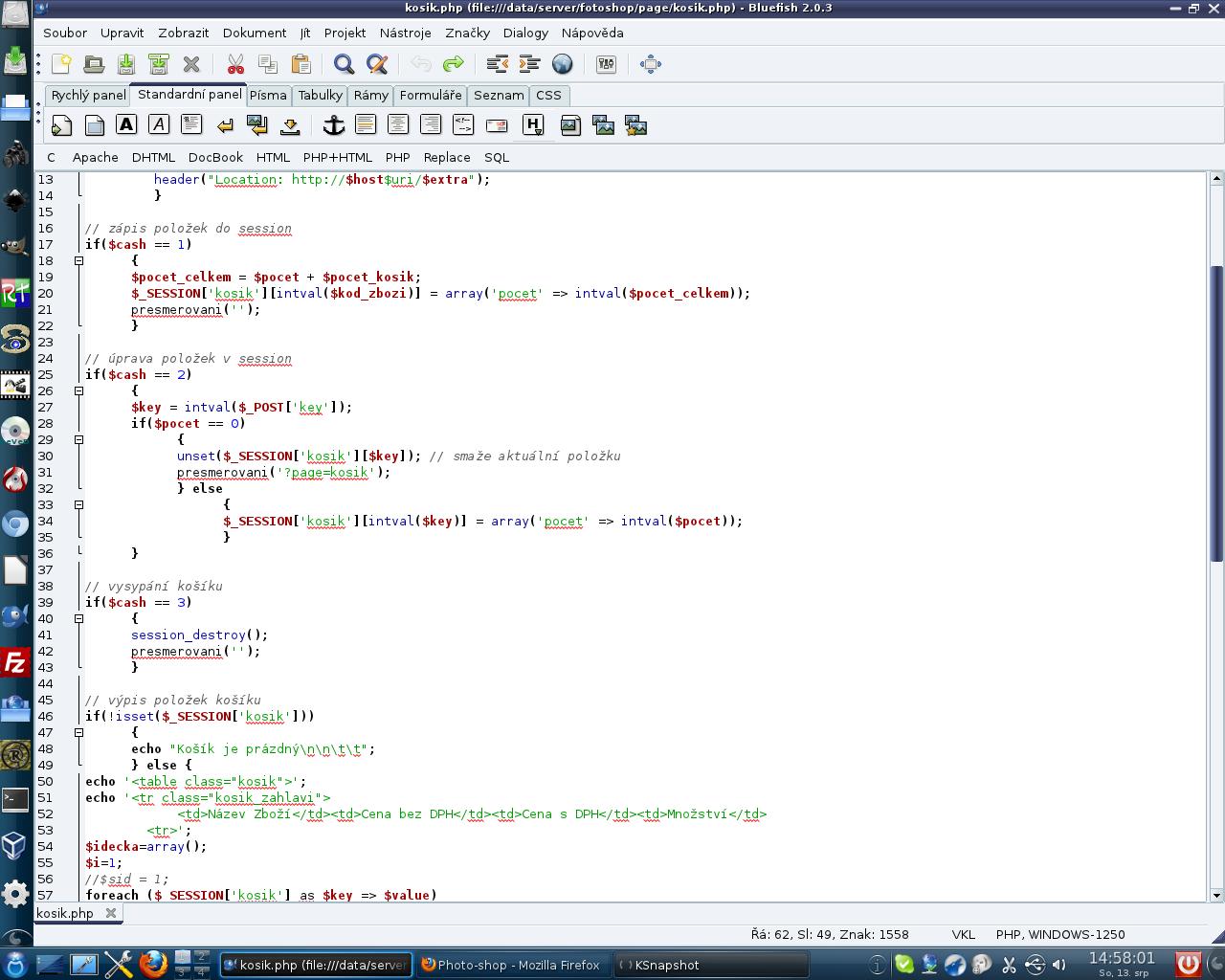 Rellik: Mageia 1, KDE - Bluefish