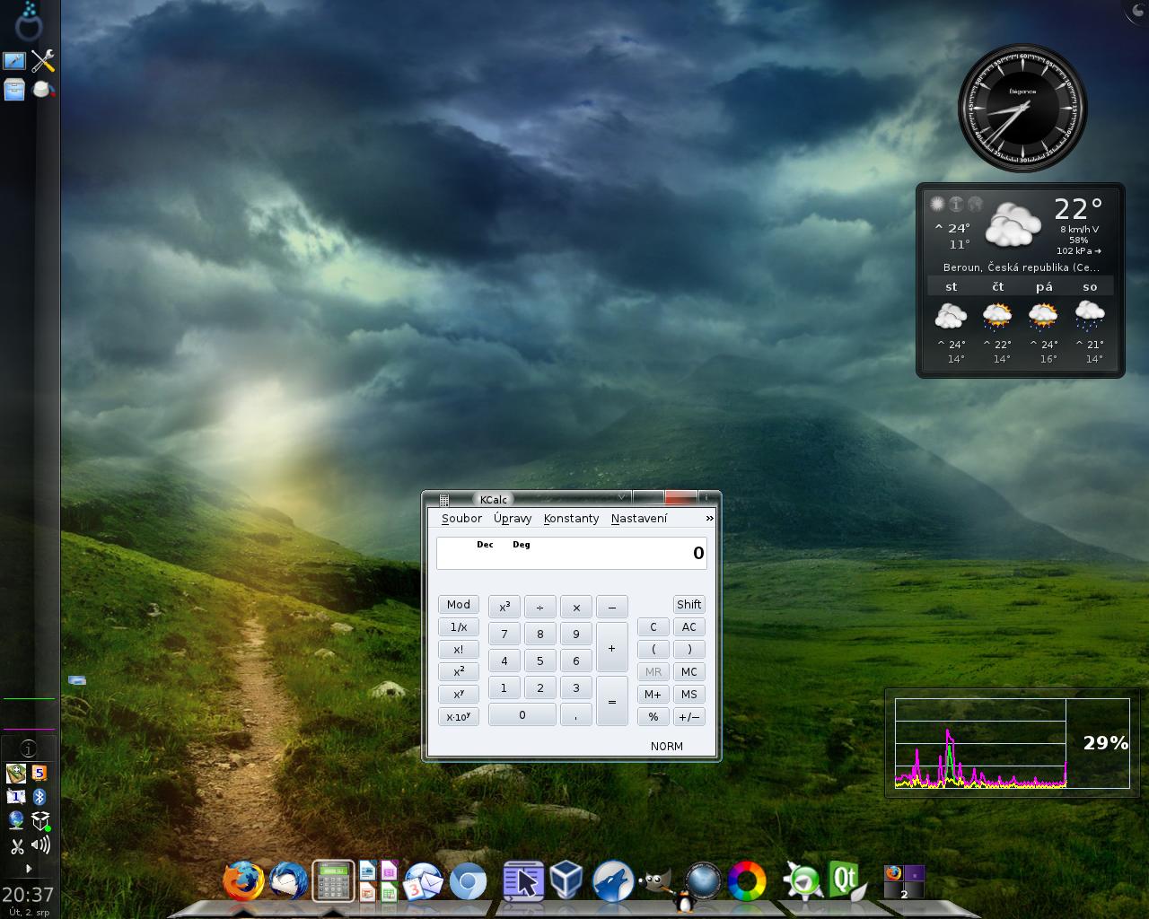 Vítek: Mageia 1, KDE4 - Compiz, emerald a cairo